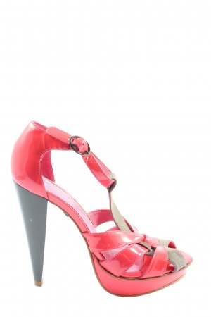 Buffalo London High Heels pink-hellgrau extravaganter Stil