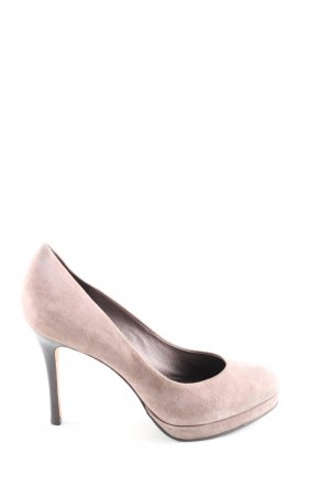 Buffalo London High Heels wollweiß Business-Look
