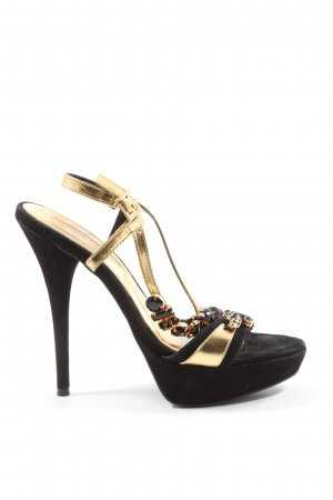 Buffalo London High Heels schwarz-goldfarben Elegant
