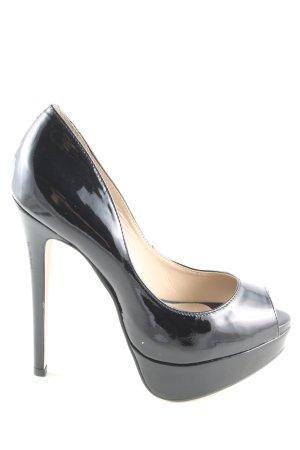 Buffalo London High Heels schwarz Glanz-Optik