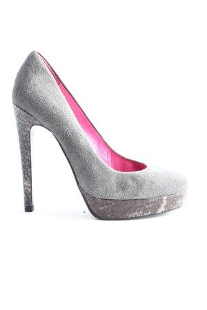Buffalo London High Heels silver-colored casual look