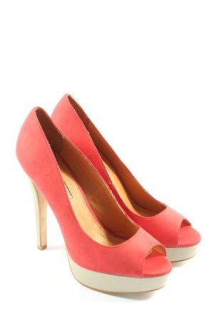 Buffalo London High Heels rot-wollweiß Casual-Look