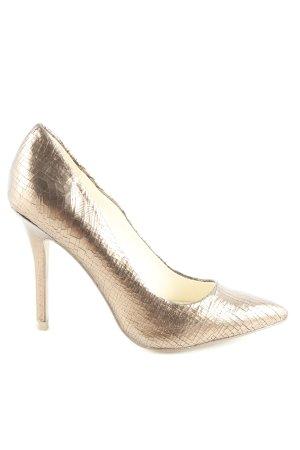 Buffalo London High Heels bronzefarben Glanz-Optik