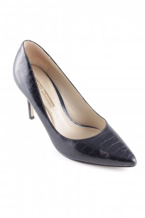 Buffalo London High Heels schwarz Animalmuster Business-Look