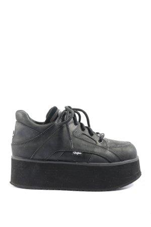 Buffalo London High top sneaker zwart casual uitstraling