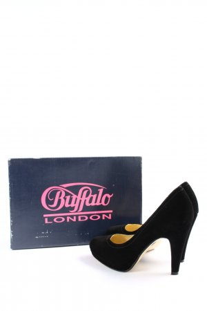 Buffalo London High-Front Pumps black casual look