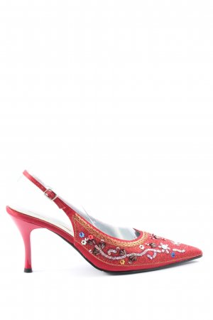 Buffalo London Chaussure à talons carrés rouge style décontracté