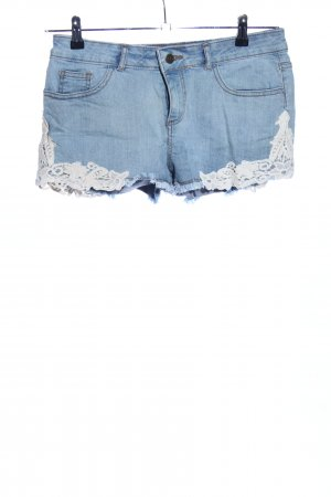 Buffalo London Jeansshorts blau-weiß Casual-Look
