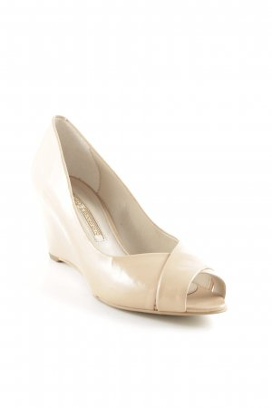 Buffalo London Keil-Pumps creme Business-Look