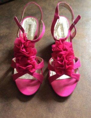 Buffalo London Keil Sandale Gr 35 pink