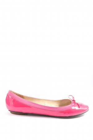 Buffalo London Patent Leather Ballerinas pink casual look