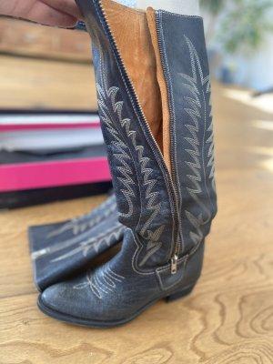 Buffalo London Lederstiefel in Cowboy Design