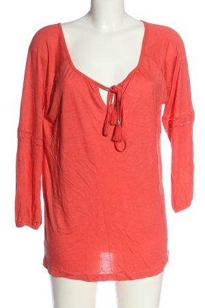 Buffalo London Koszulka z długim rękawem czerwony W stylu casual