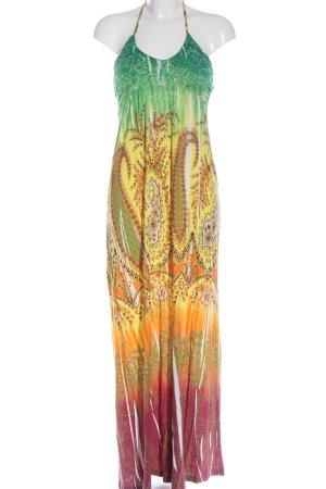 Buffalo London Maxi-jurk abstract patroon casual uitstraling