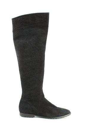 Buffalo London Botas sobre la rodilla negro look casual