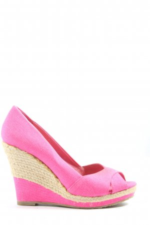 Buffalo London Peeptoe Pumps pink Party-Look