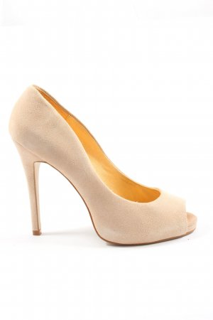 Buffalo London Peeptoe Pumps creme Business-Look
