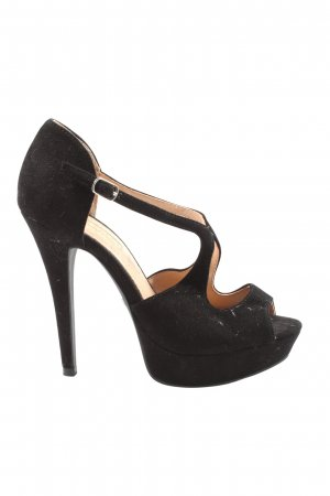 Buffalo London Peeptoe Pumps schwarz Elegant