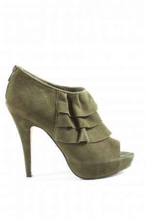 Buffalo London Peep Toe laarsjes khaki casual uitstraling