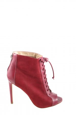Buffalo London Peeptoe-Stiefeletten rot Business-Look