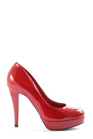 Buffalo London Décolleté con plateau rosso stile casual