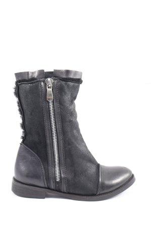 Buffalo London Reißverschluss-Stiefeletten schwarz Casual-Look