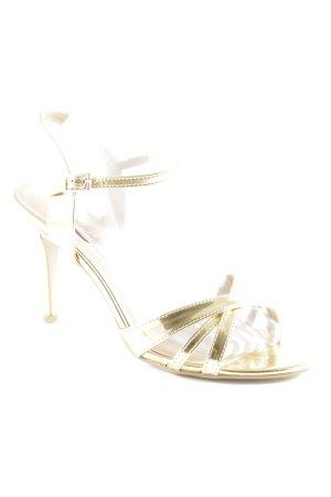 Buffalo London Riemchen-Sandaletten goldfarben extravaganter Stil