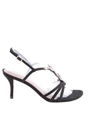 Buffalo London Riemchen-Sandaletten schwarz Casual-Look