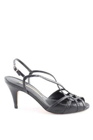 Buffalo London Riemchen-Sandaletten schwarz Metallelemente