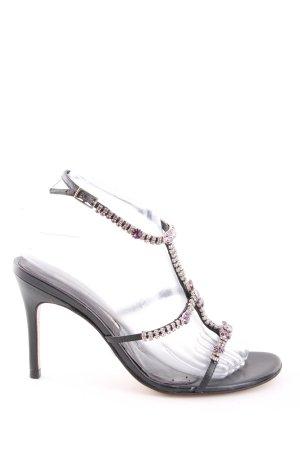 Buffalo London Riemchen-Sandaletten schwarz-pink Elegant