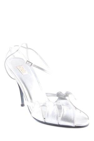 Buffalo London Riemchen-Sandaletten silberfarben Elegant