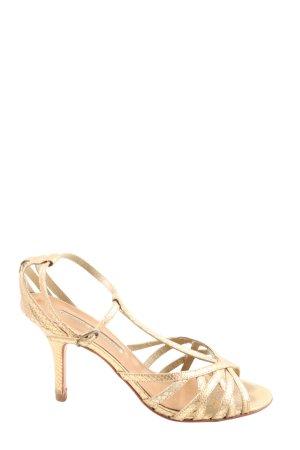 Buffalo London Riemchenpumps goldfarben Elegant