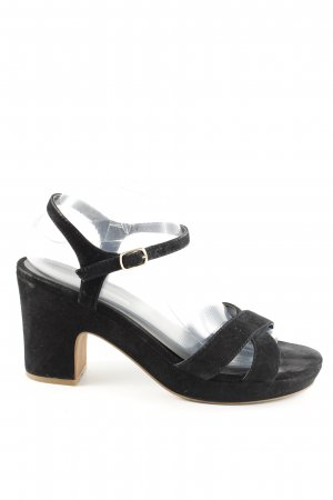 Buffalo London Riemchenpumps schwarz Business-Look