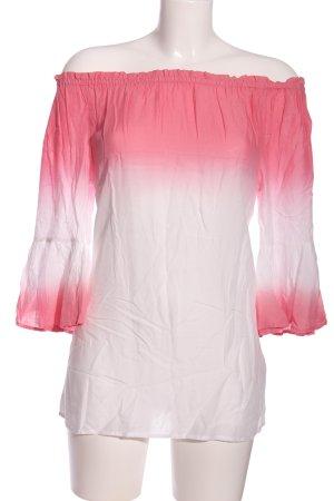 Buffalo London Camicetta con arricciature rosa-bianco Colore sfumato
