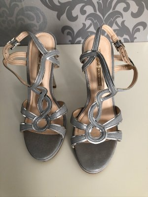 Buffalo London Sandalen High Heels Gr.38 Silber
