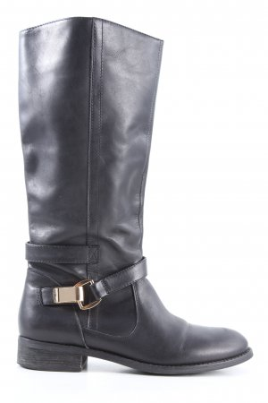Buffalo London Botas estilo militar negro look casual