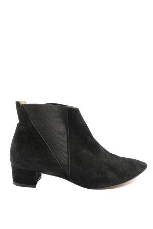 Buffalo London Schlüpf-Stiefeletten schwarz Casual-Look