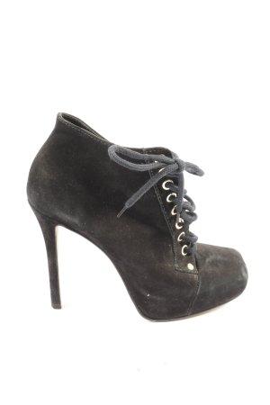 Buffalo London Schnür-Stiefeletten schwarz Casual-Look