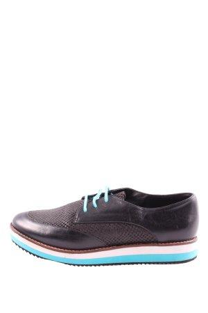 Buffalo London Chaussures à lacets noir motif animal style décontracté