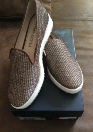 Buffalo London Slip-on Shoes gold-colored-grey brown