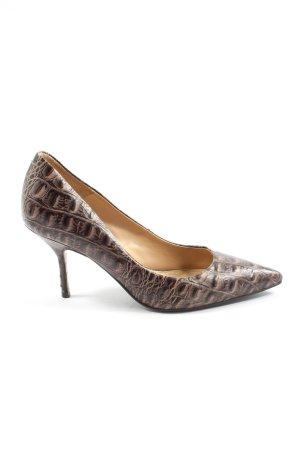 Buffalo London Stiletto brun motif animal style décontracté