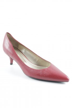 Buffalo London Pointed Toe Pumps neon red-gold-colored elegant