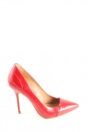 Buffalo London Stiletto rouge motif animal style d'affaires