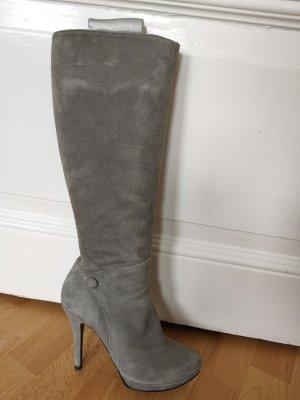 Buffalo London High Heel Boots grey leather