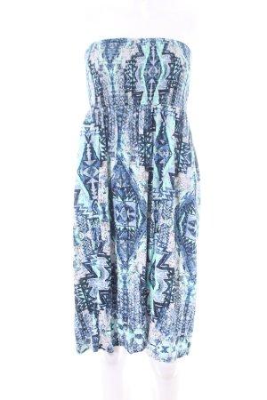 Buffalo London Strandkleid blau-weiß abstraktes Muster Casual-Look