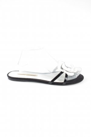 Buffalo London Beach Sandals black-white flower pattern casual look