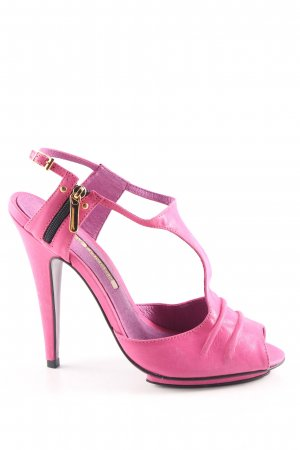 Buffalo London T-Strap Pumps pink elegant
