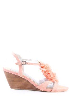 Buffalo London Wedges Sandaletten pink Casual-Look