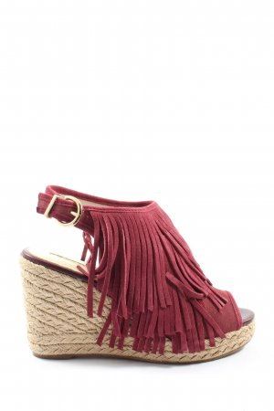 Buffalo London Sandalias tipo cuña rojo look casual