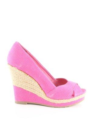 Buffalo London Wedges Sandaletten pink-wollweiß Casual-Look